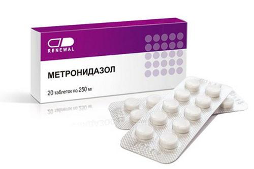 Лечение десен антибиотиком Метронидазол