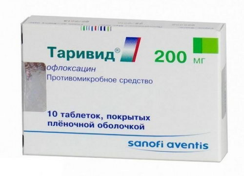 Антибиотик Таривид при воспалении десен и зубов